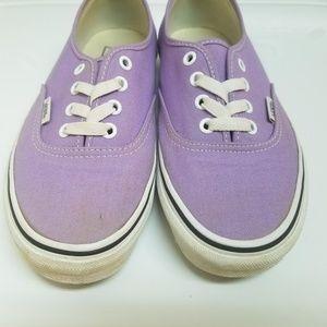 Light Purple Authentic Vans